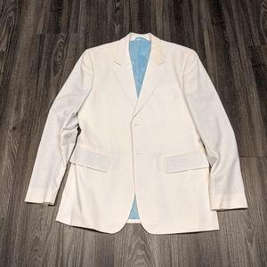 Tristan & America White Linen Blend Blazer